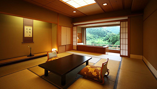 Deluxe Japanese-style Room (12.5 tatami mat-size / mountain stream-side, or garden-side)