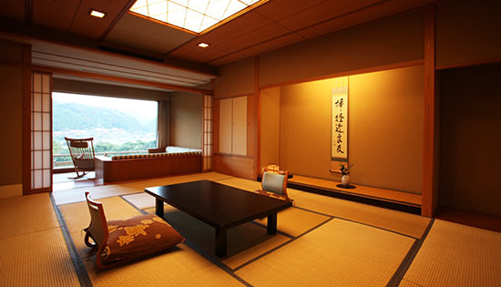 Japanese-Western-style Suite with Private Outdoor Bath (Mountain Stream-side)