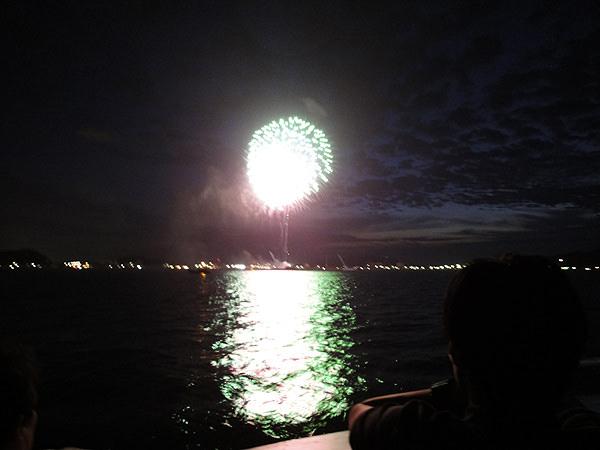 長門仙崎にて花火大会が開催されました。