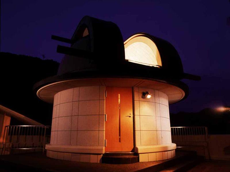 大谷山荘で星空観測