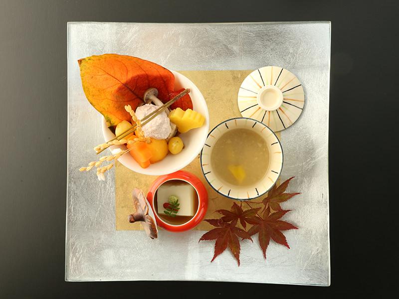 【お料理】ふく、きじはた、のど黒、生うに。大谷山荘の秋会席「夕霧」「星月夜」のご案内