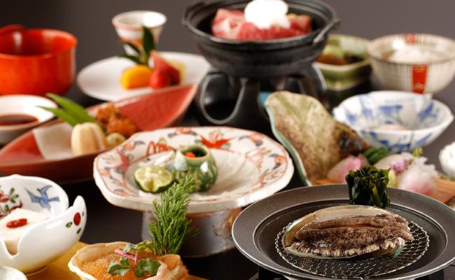 【お料理】ふく、鯛、鮑のおどり焼など、引き締まった冬の幸。大谷山荘の冬会席「白露」「清月」のご案内