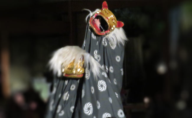 【イベント】2018年もたくさん噛みました~大谷山荘の獅子舞