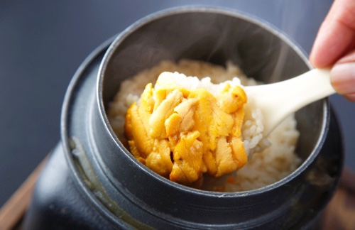 Senzaki Sea Urchin Rice Pilaf (Includes pickled vegetables)