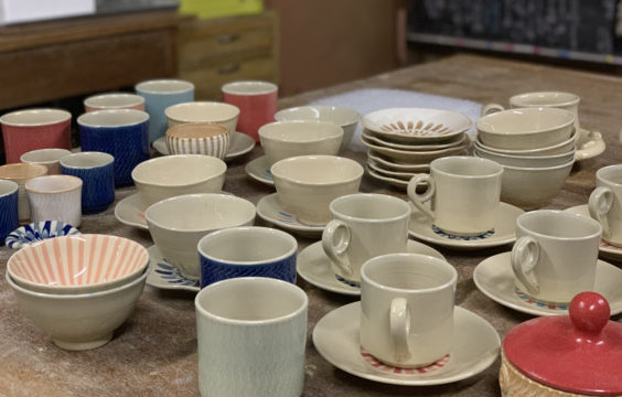 Hagi-pottery-kanekotsukasa-works8-April8th.2019 at Otanisanso
