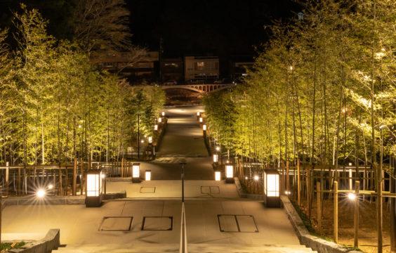 nagatoyumoto-onsen-chikurinkaidan-night