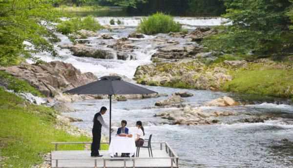 【春~初夏の催し】長門湯本温泉で山々や川床を愉しむ「選べる4シーンのカフェプラン」のご案内。(3月27日~6月28日)